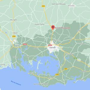 Bonnet Paysagiste, paysagiste à Vannes et sa région. Carte de Bretagne